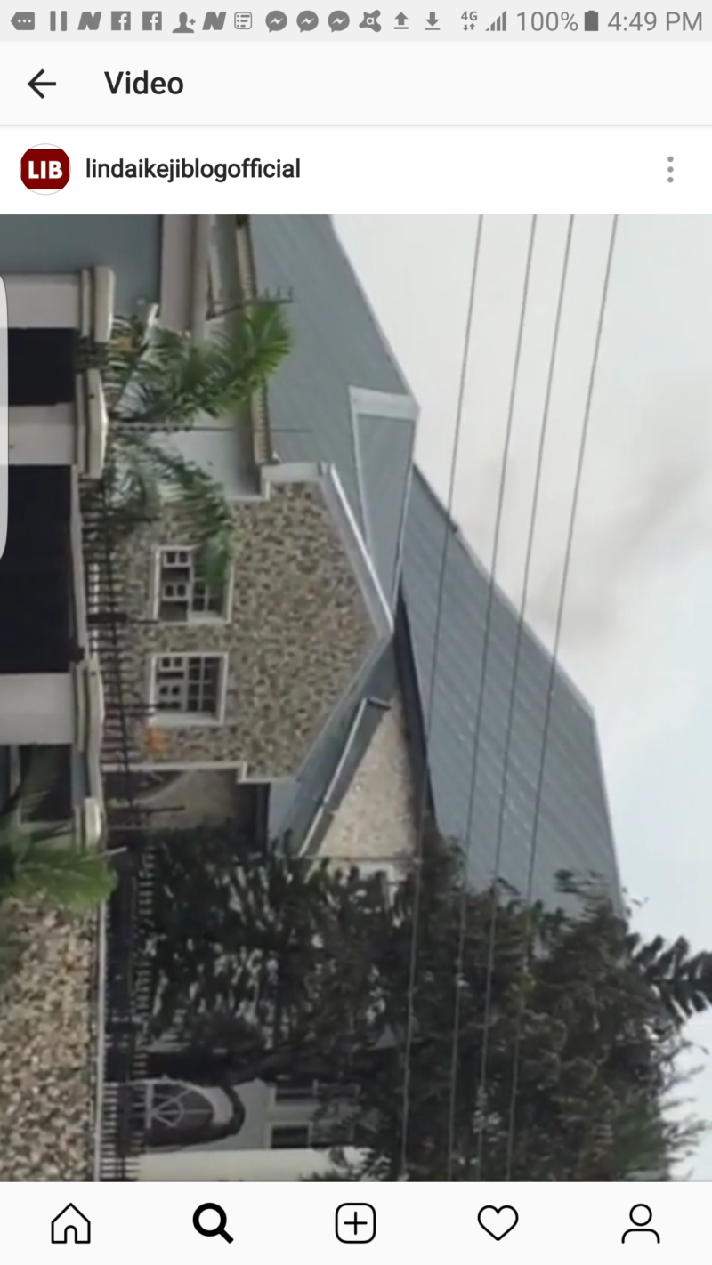 Parts of Davido's Father's House Gutted By Fire (video