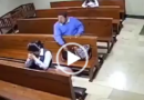 CCTV Footage Shows The Moment A Man Stole a Praying Woman's Phone In Church (Video)