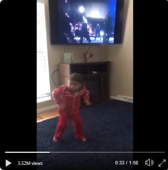 toddler imitating michael jackson 5